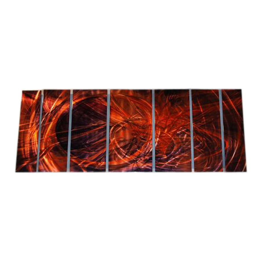 All My Walls 138-in W x 48-in H Frameless Metal Abstract Sculpture Wall Art