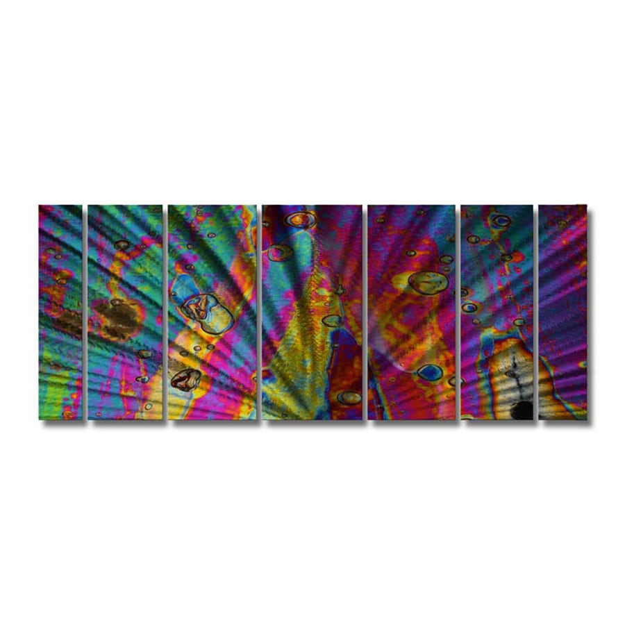 All My Walls 102-in W x 36-in H Frameless Metal Abstract Sculpture Wall Art