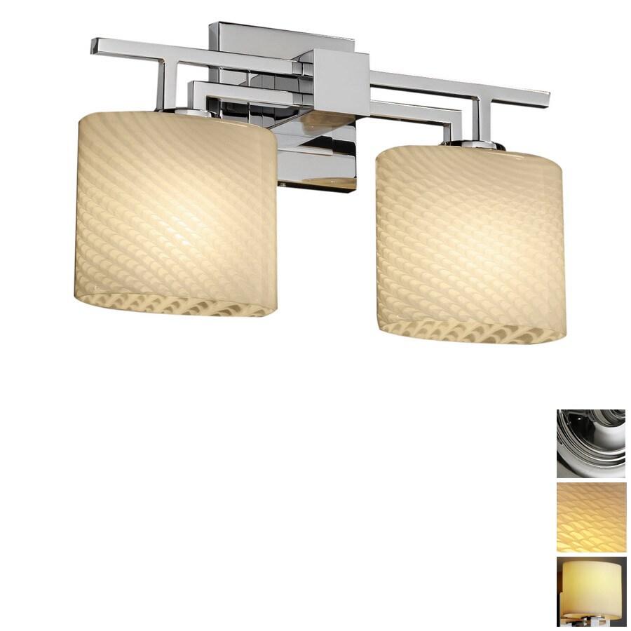 Cascadia Lighting 2-Light Fusion Aero Polished Chrome Bathroom Vanity Light