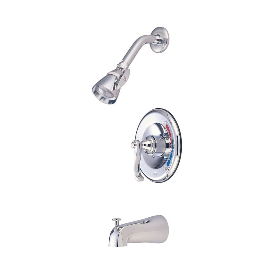 Elements of Design Chrome 1-Handle Bathtub and Shower Faucet Trim Kit with Single Function Showerhead