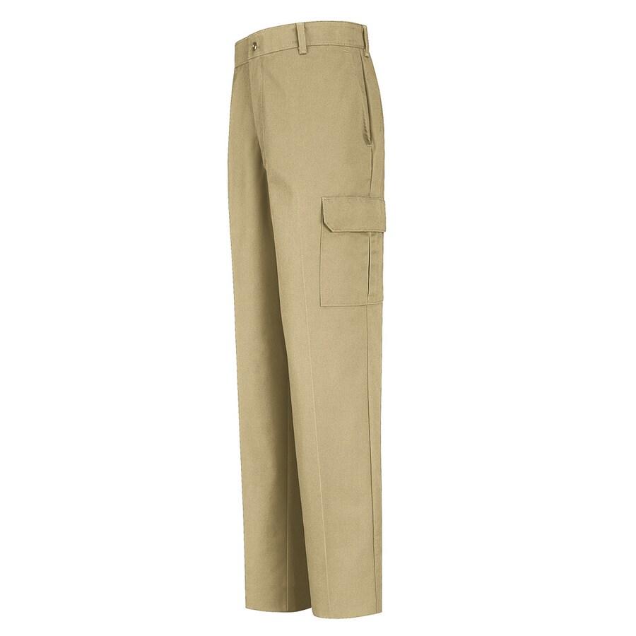 Red Kap Men's 38 x 34 Khaki Twill Cargo Work Pants