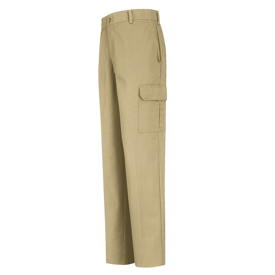 Red Kap Men's 50 x 32 Khaki Twill Cargo Work Pants
