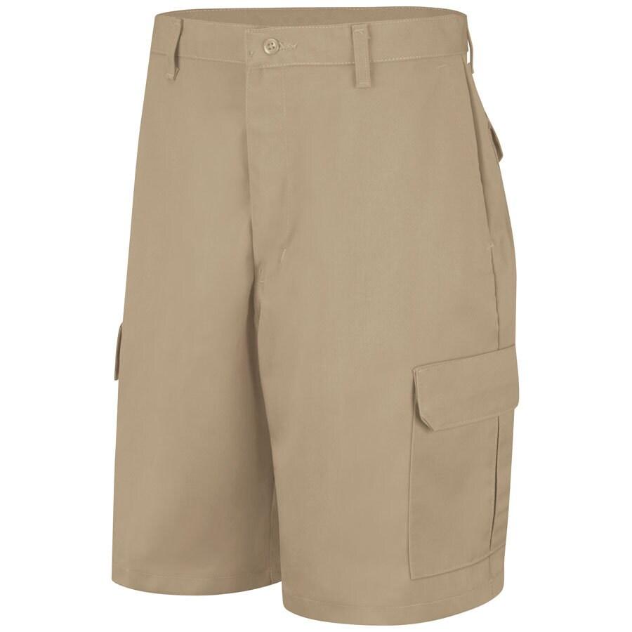 Red Kap Men's 34 Khaki Twill Cargo Work Shorts