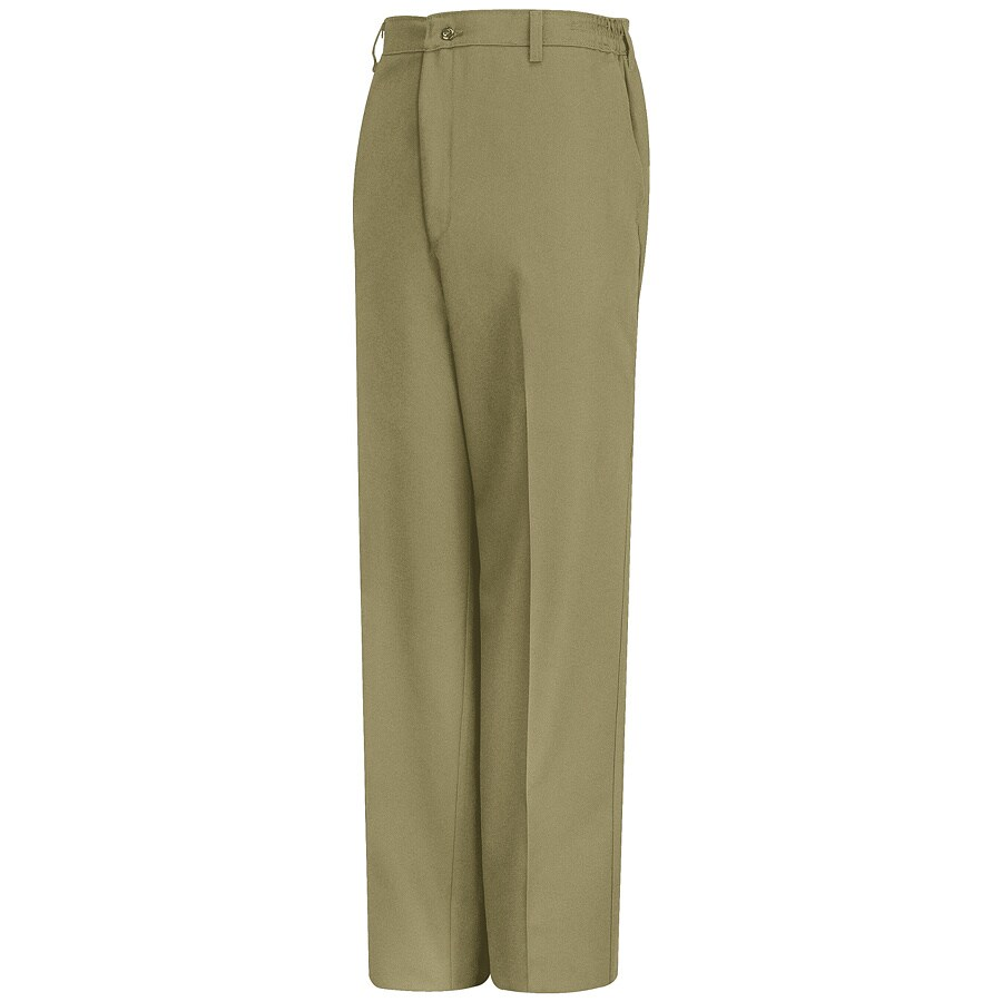 Red Kap Men's 42 x 32 Khaki Twill Work Pants