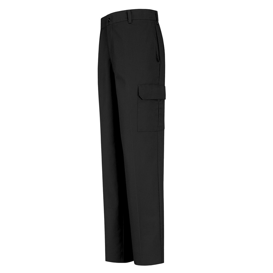 Red Kap Men's 50 x 32 Black Twill Cargo Work Pants