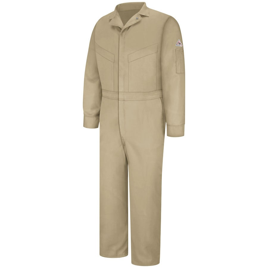 Bulwark 42 Men's Khaki Long Coveralls