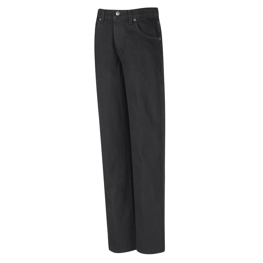 Red Kap Men's 28 x 34 Prewashed Black Denim Jean Work Pants