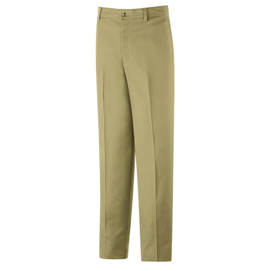 Shop Red Kap Men's 28 x 32 Khaki Twill Work Pants at Lowes.com