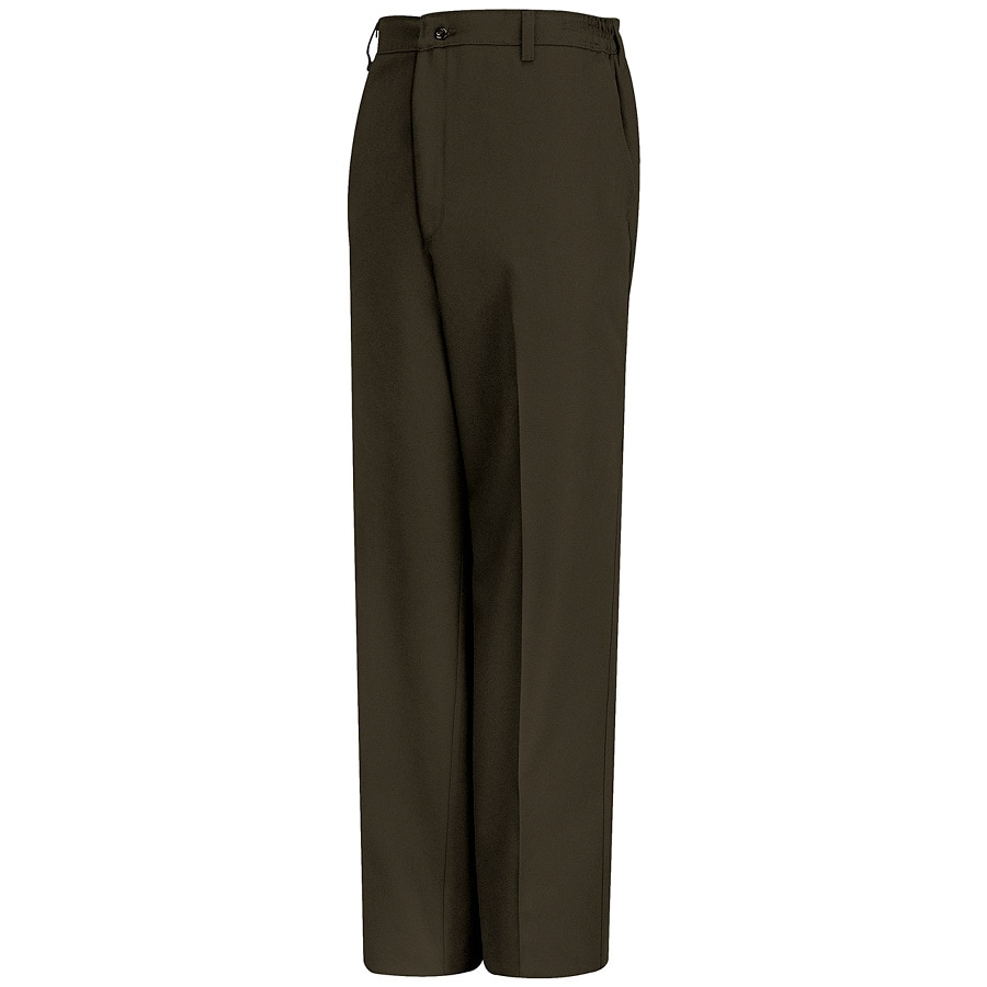 Red Kap Men's 54 x 32 Brown Twill Work Pants