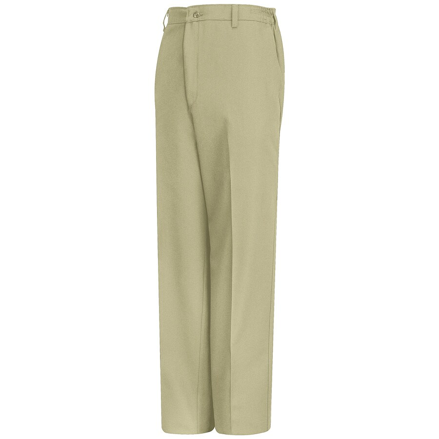 Red Kap Men's 46 x 32 Tan Twill Work Pants