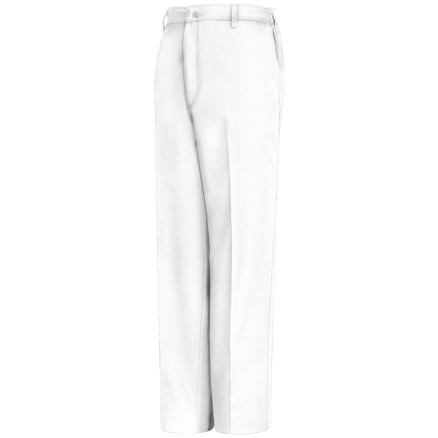 Red Kap Men's 34 x 30 White Twill Work Pants
