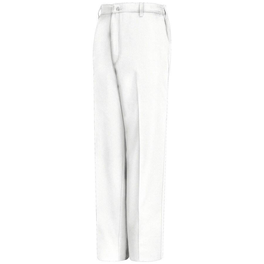 Red Kap Men's 38 x 32 White Twill Work Pants