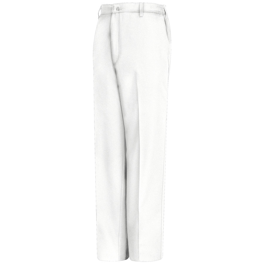 Red Kap Men's 40 x 30 White Twill Work Pants
