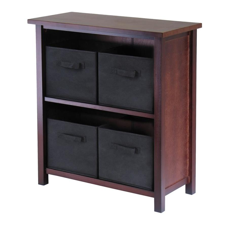 Winsome Wood Verona Antique Walnut 2-Shelf Office Cabinet