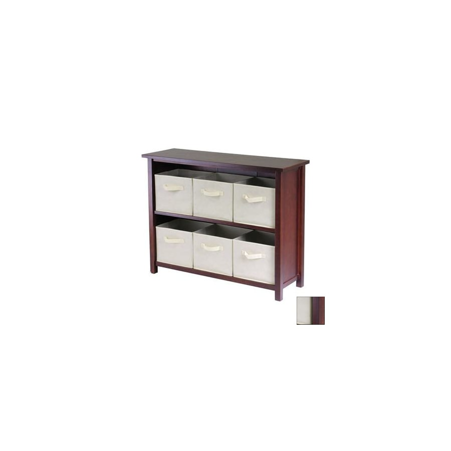 Shop Winsome Wood Verona Antique Walnut 2Shelf Office