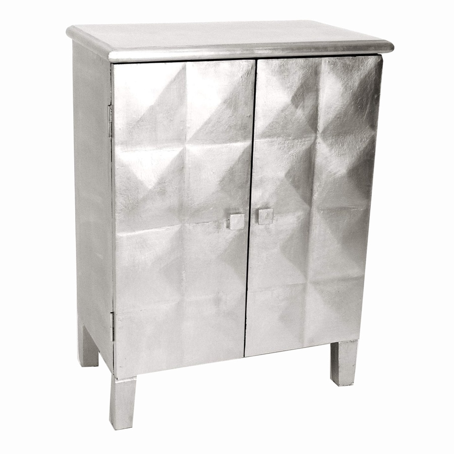 Wayborn Furniture Silver Leaf 2 Shelf Office Cabinet