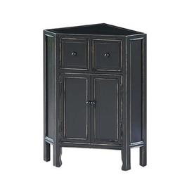 Wayborn Furniture Suchow Black Wood Casual End Table