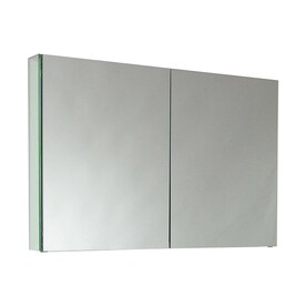'Fresca 39.5-in x 26-in Rectangle Surface Mirrored Aluminum Medicine Cabinet' from the web at 'https://mobileimages.lowes.com/product/converted/448133/4481330lg.jpg'