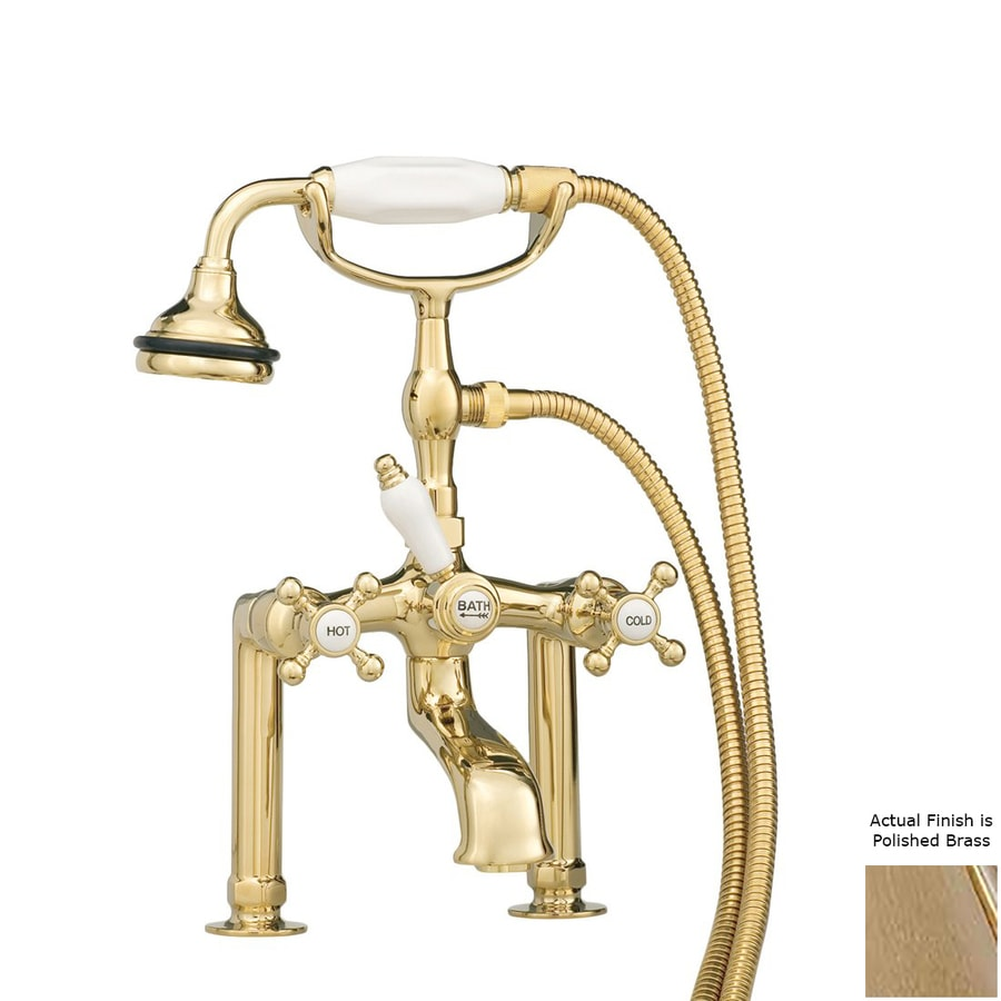 Cheviot Polished Brass 3-Handle Bathtub and Shower Faucet with Valve
