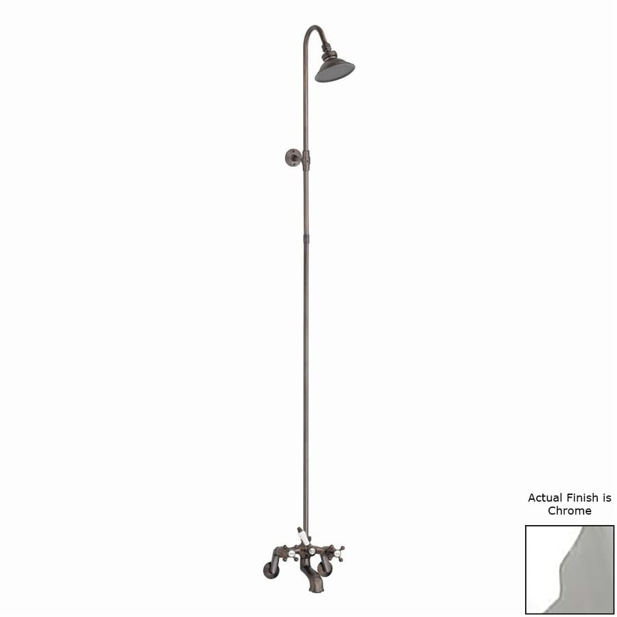Cheviot Chrome 2-Handle Bathtub and Shower Faucet with Rain Showerhead