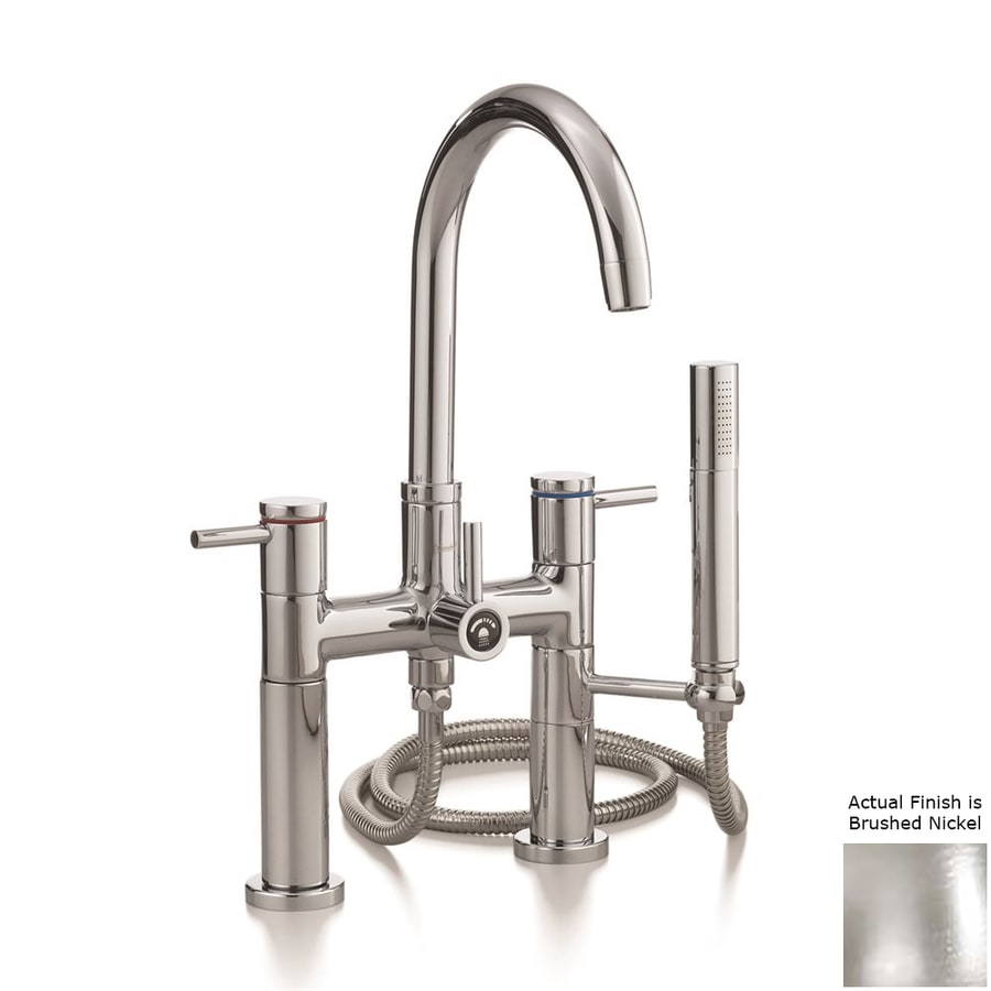 Cheviot Brushed Nickel 3-Handle Bathtub and Shower Faucet with Single Function Showerhead