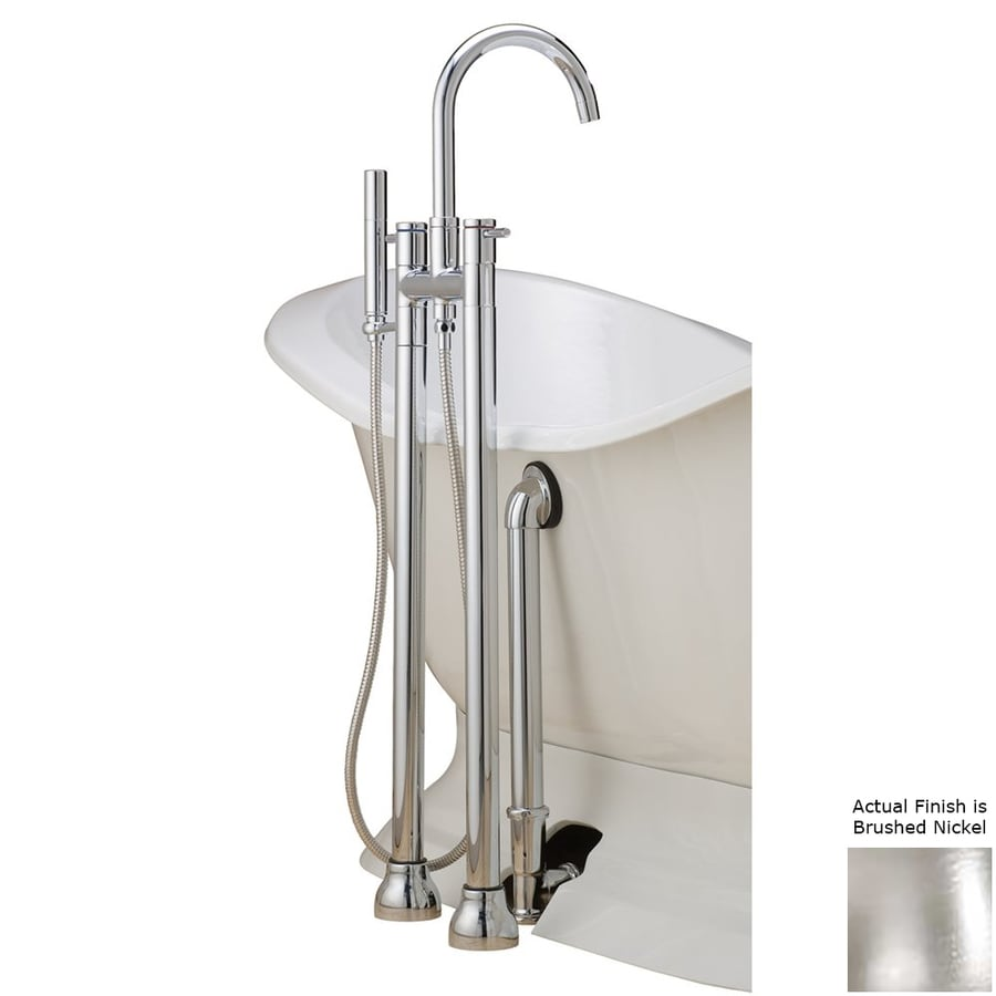 Shop Cheviot Brushed Nickel 3 Handle Bathtub And Shower Faucet With Valve At