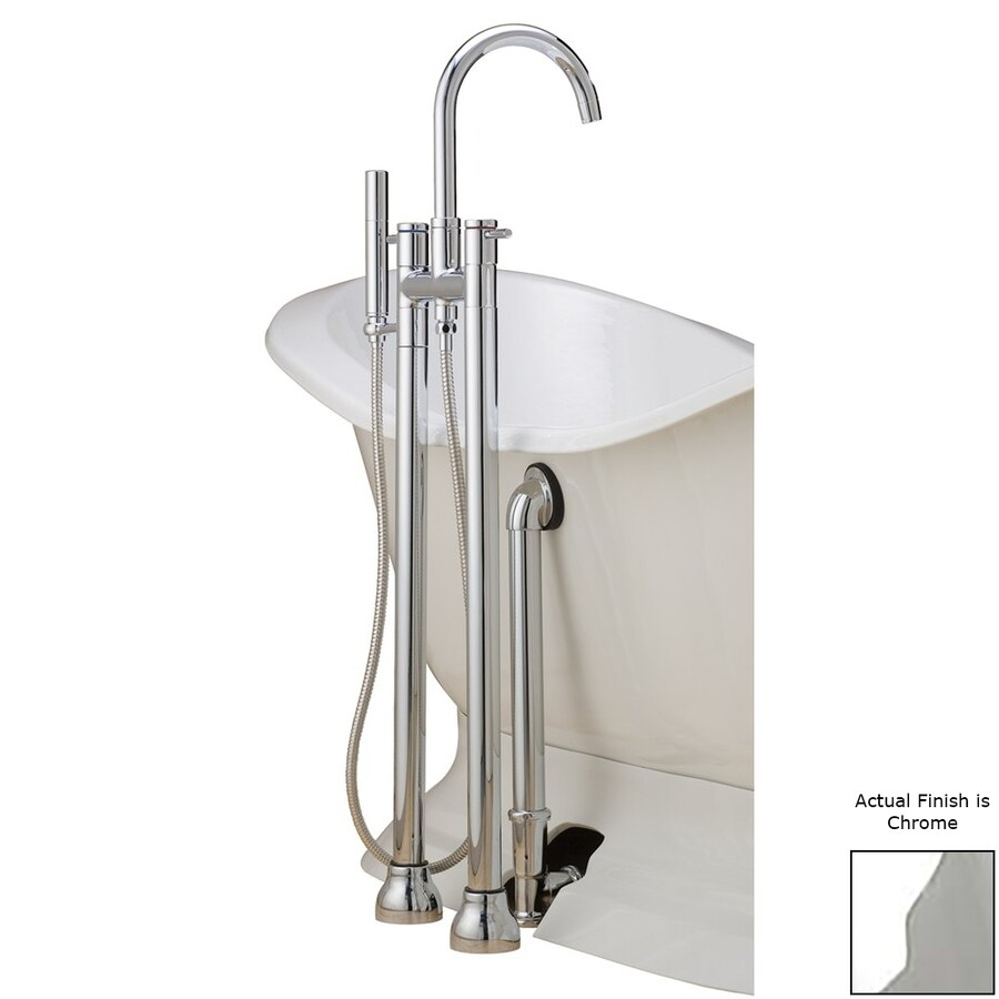 Cheviot Chrome 3-Handle Bathtub and Shower Faucet with Valve