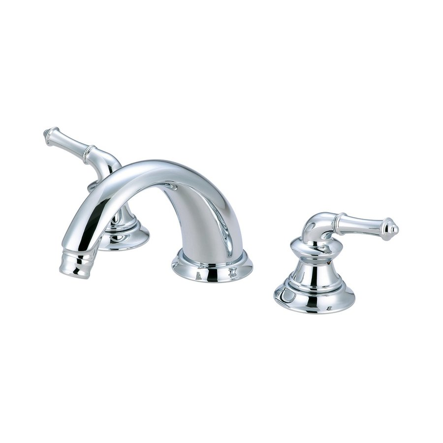 Pioneer Industries Del Mar Polished Chrome 2-Handle Adjustable Deck Mount Bathtub Faucet