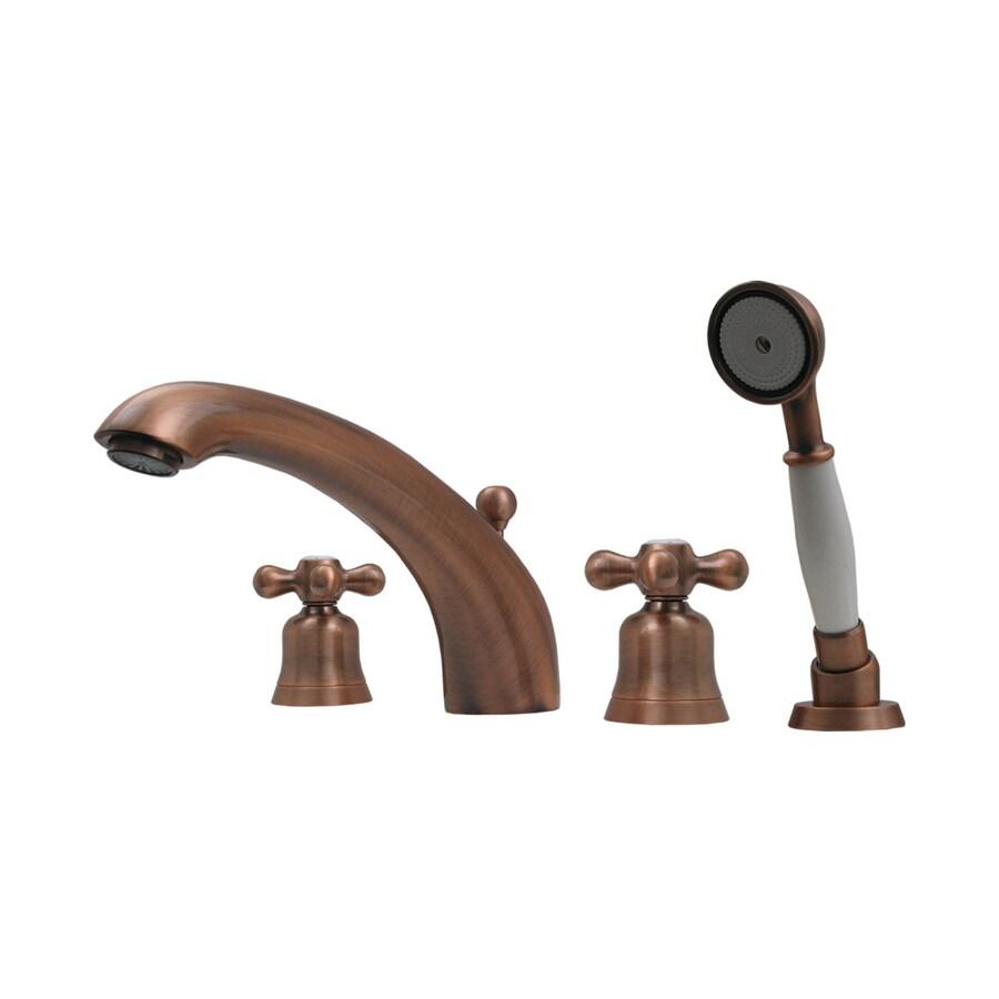 Shop Whitehaus Collection Blairhaus Antique Copper 2-Handle Bathtub ...