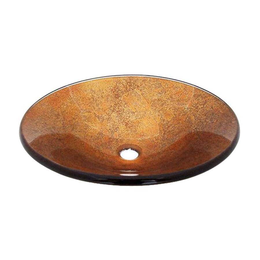 Legion Furniture Gold Glass Vessel Round Bathroom Sink
