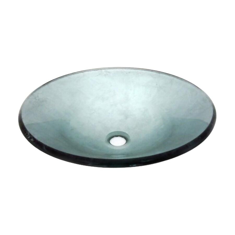 Legion Furniture Blue Glass Vessel Round Bathroom Sink