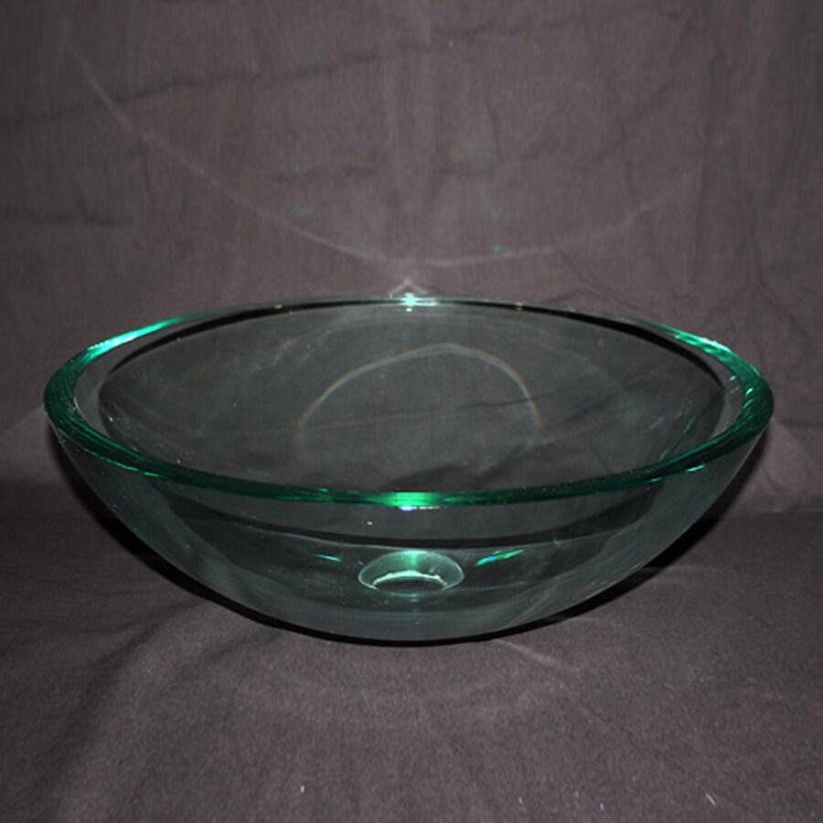 Legion Furniture Clear Glass Vessel Round Bathroom Sink