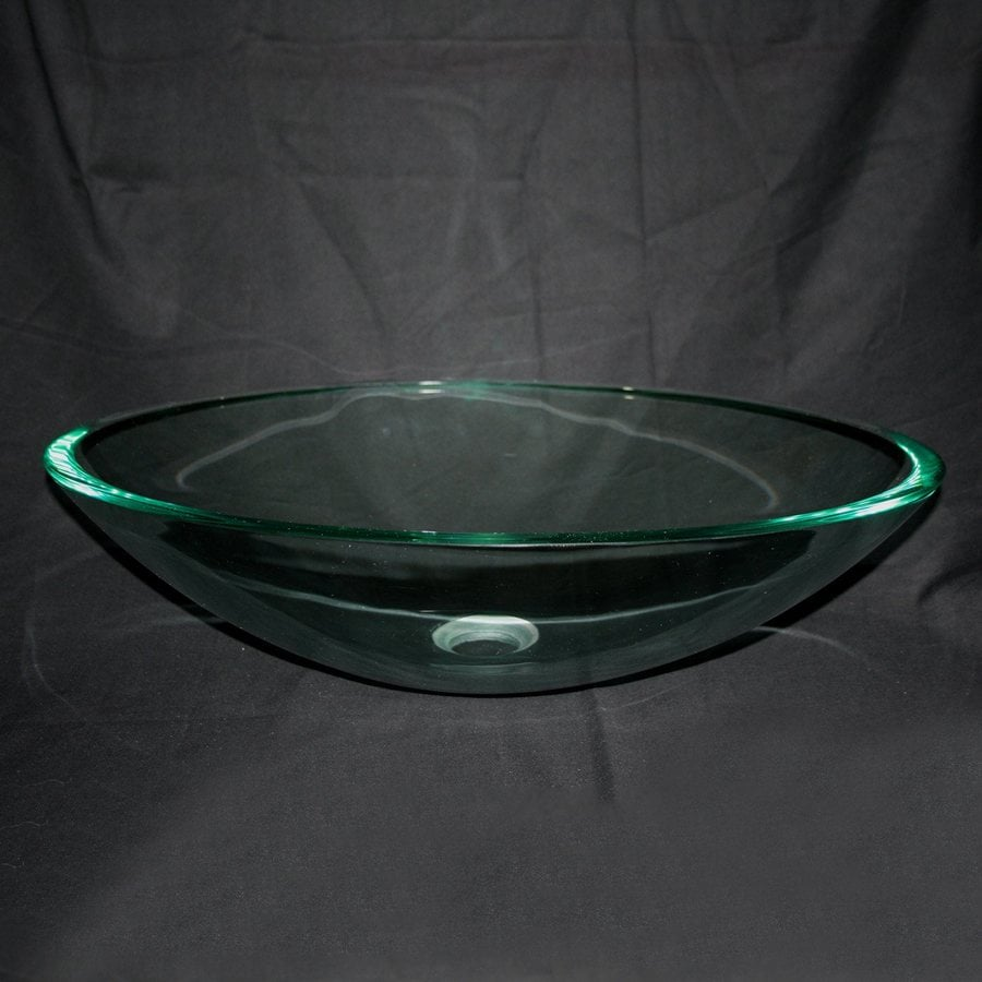 Legion Furniture Clear Glass Vessel Oval Bathroom Sink