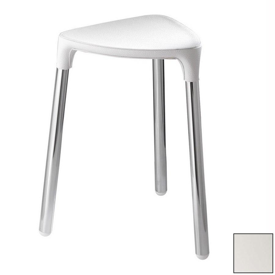 Nameeks White Plastic Freestanding Shower Chair