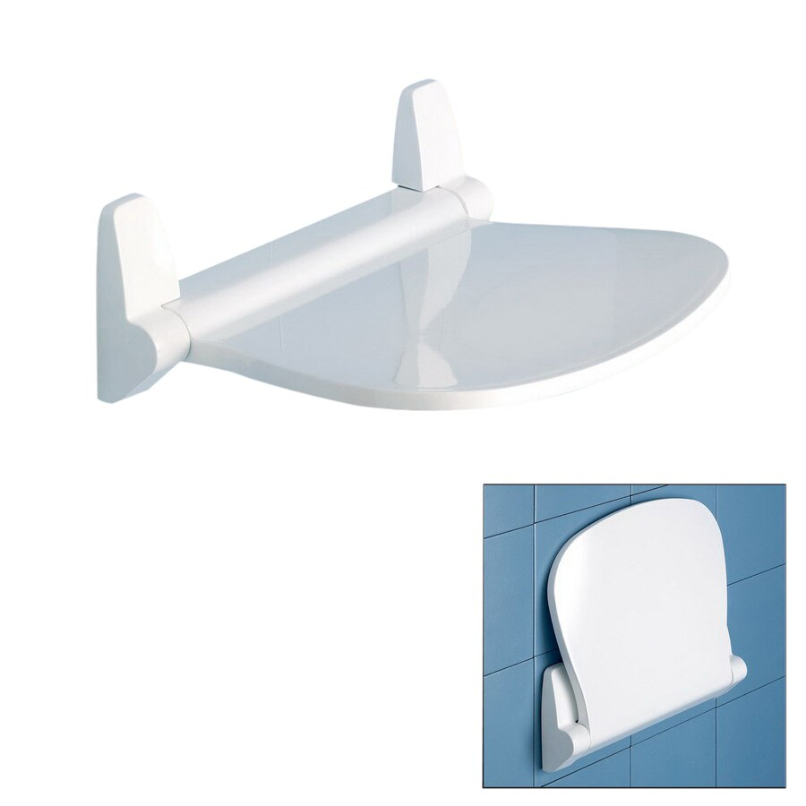 Shop Nameeks White Plastic Wall Mount Shower Seat at Lowes.com