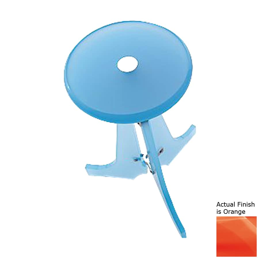 Nameeks Orange Plastic Freestanding Shower Chair
