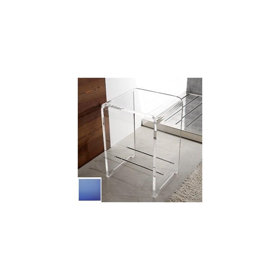 Nameeks Light Blue Plastic Freestanding Shower Chair