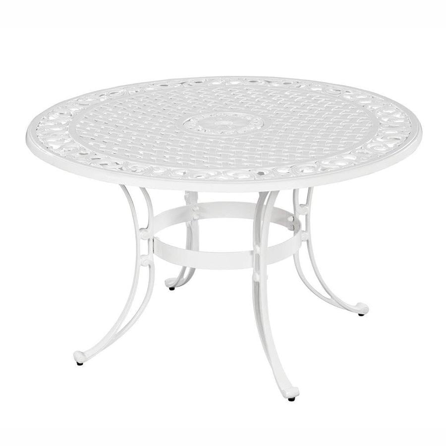 Home Styles Biscayne 42-in W x 42-in L Round Aluminum Dining Table