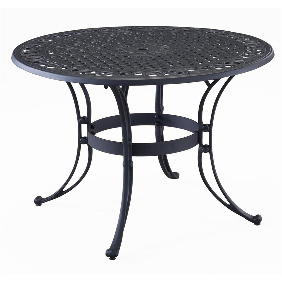 Captivating Home Styles Biscayne 42 In W X 42 In L Round Aluminum Dining Table