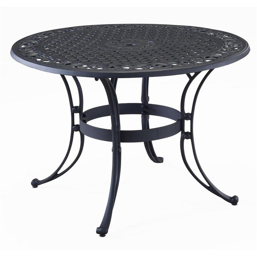 Home Styles Biscayne 48-in W x 48-in L Round Aluminum Dining Table