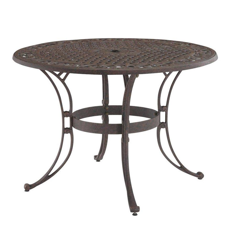 Shop home styles biscayne 42 in w x 42 in l round aluminum for 42 inch round dining table