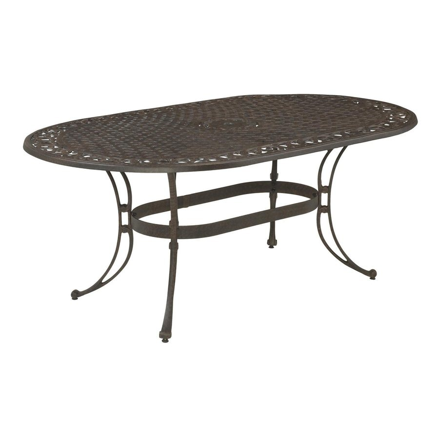 Captivating Home Styles Biscayne 42 In W X 72 In L Oval Aluminum Dining Table