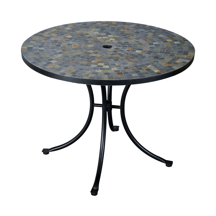 Shop Home Styles Stone Harbor 39 5 in W x 39 5 in L Round Steel