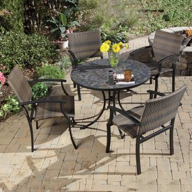 Home Styles Stone Harbor 5 Piece Slate Patio Dining Set