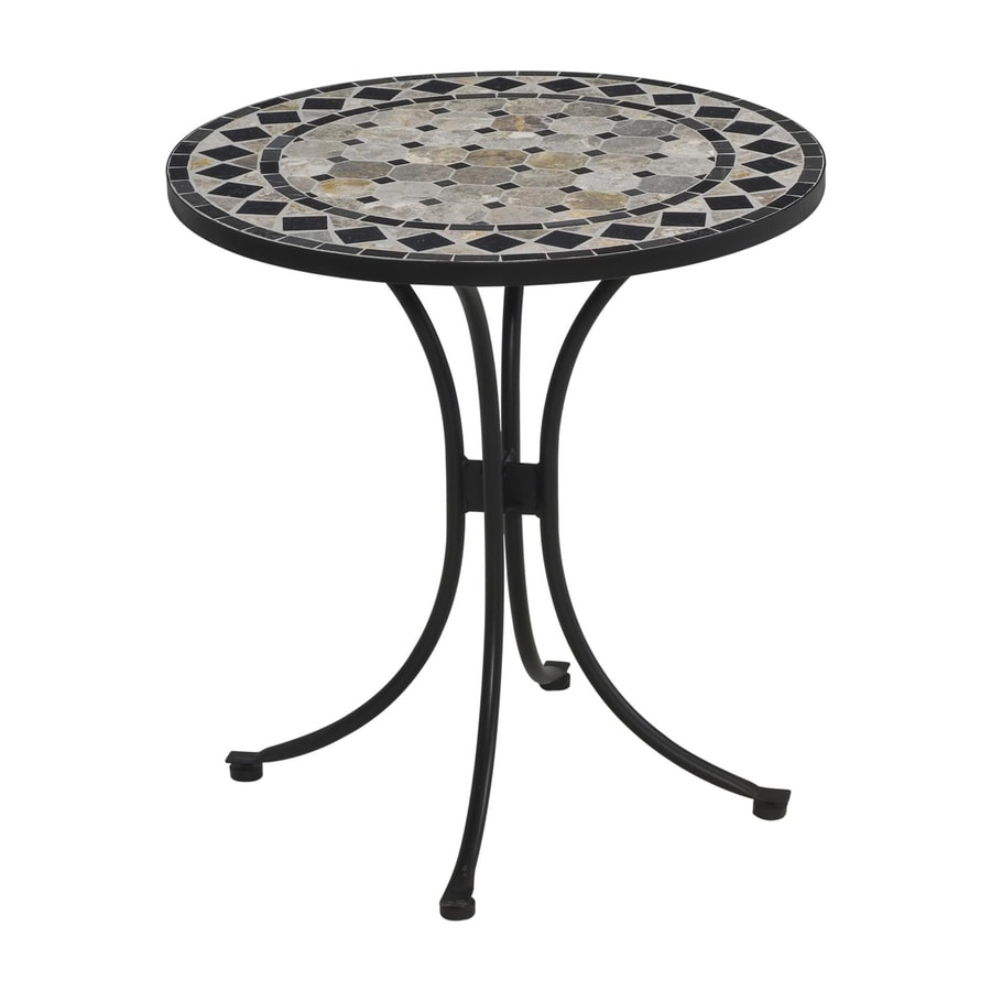 Home Styles Marble 27.5-in W x 27.5-in L Round Steel Bistro Table