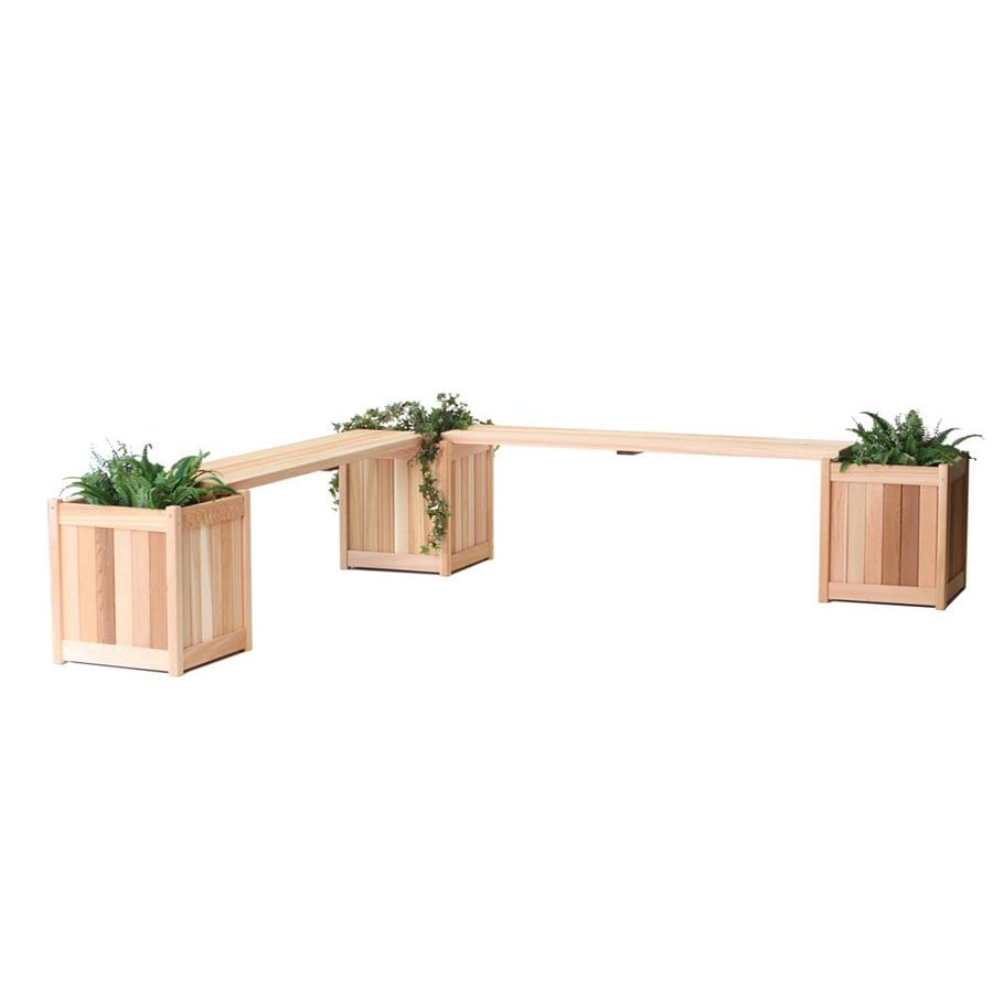 All Things Cedar 18-in x 20-in Unfinished Cedar Planter Bench