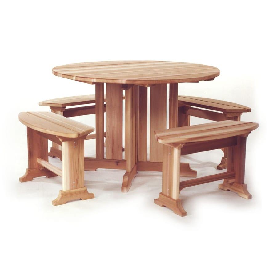 All Things Cedar 5-Piece Natural Cedar Patio Dining Set