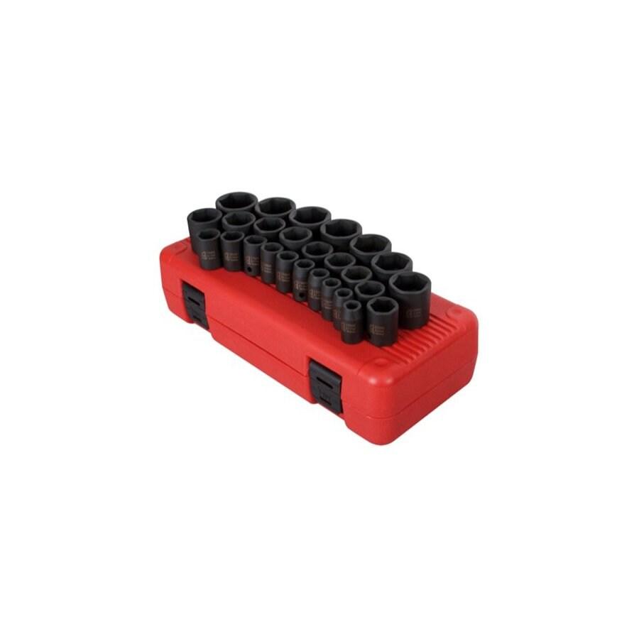 Sunex Tools 26-Piece 1/2-in Metric 6-Point Impact Socket Set