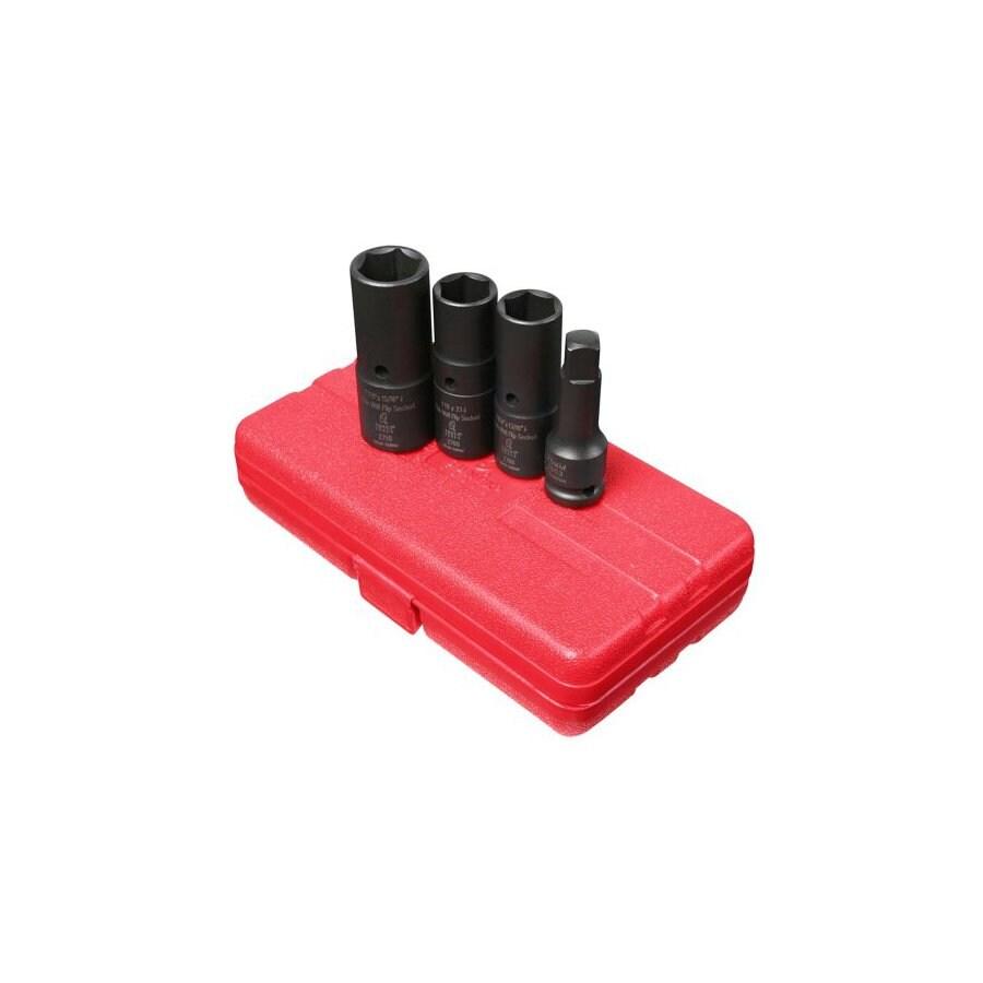 Sunex Tools 4-Piece 1/2-in Standard/Metric 6-Point Impact Socket Set