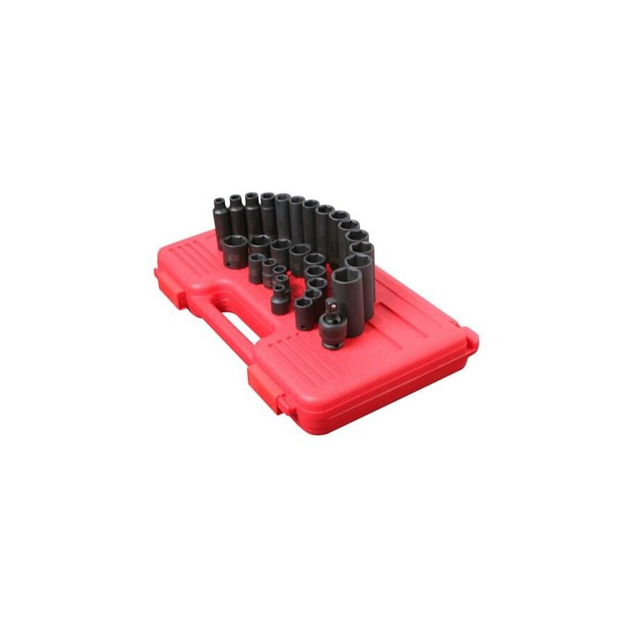 Sunex Tools 29-Piece 3/8-in Metric 6-Point Impact Socket Set